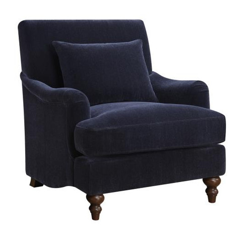 Belva Blue Accent Chair