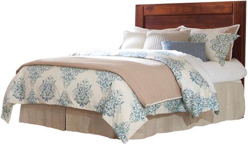 Dominic Brown Panel Headboard Bed
