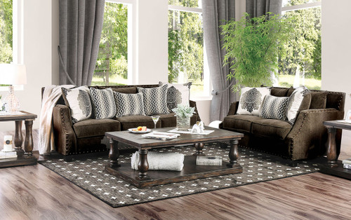 Adorjan Brown Living Room Set