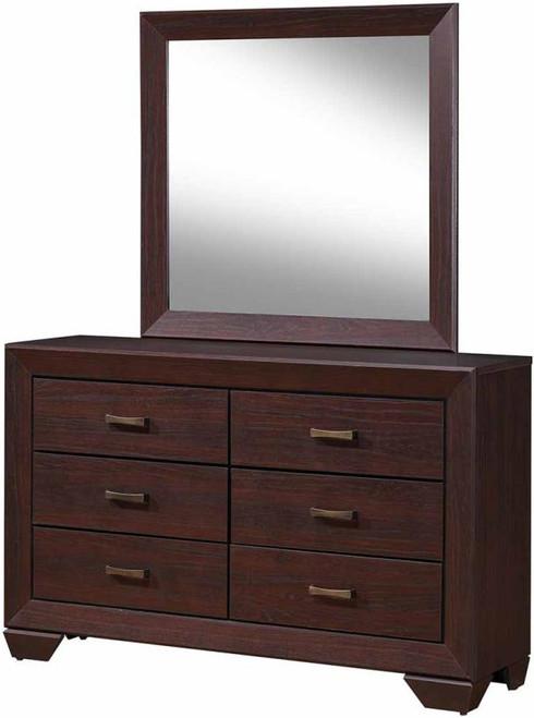 Andrews Brown Dresser & Mirror