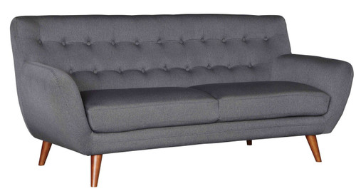 Adela Dark Gray Fabric Tufted Sofa