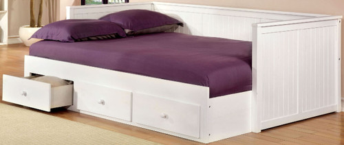 Cadda White Full Day Bed