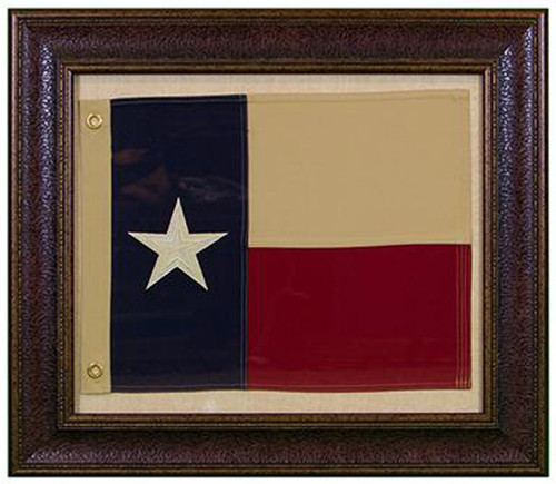 Small Texas Flag W/Matt Wall Art