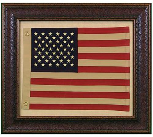 Small American Flag W/Matt Wall Art