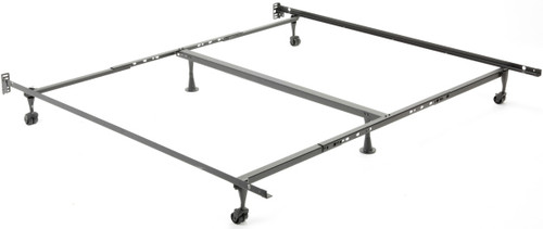 Keystone Queen, King, and California King Bed Frame with Rollers