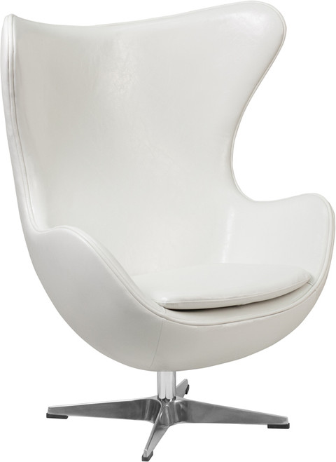 Cruz White Accent Chair