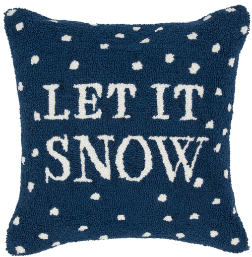 "Designer ""Let it Snow"" Pillow"