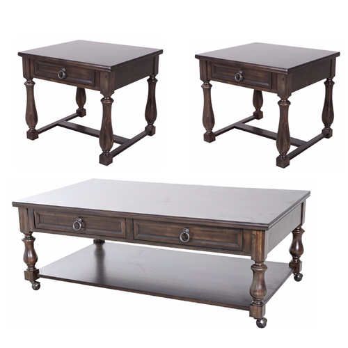Alley Charcoal 3-PC Occasional Set