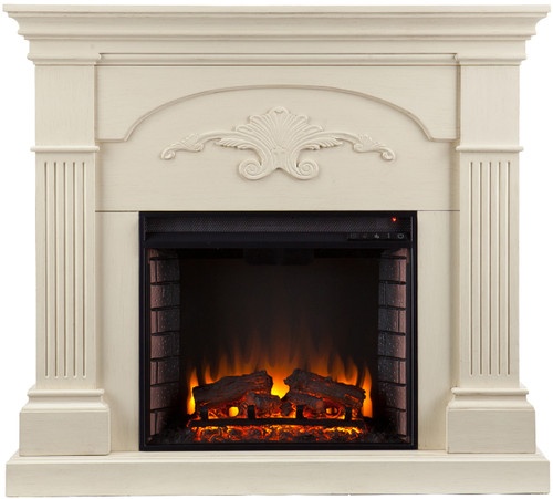 Cullen White Fireplace