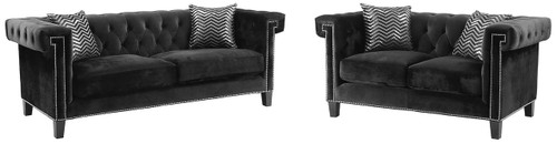 Locklear Black Sofa & Loveseat