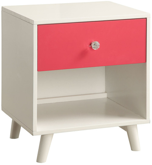 Aarin Pink Night Stand