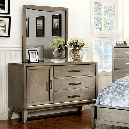 Solana Gray Dresser & Mirror