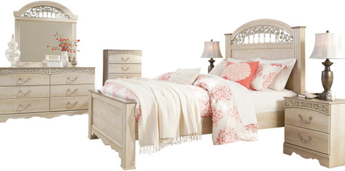 Katia Cream Poster Bedroom Set