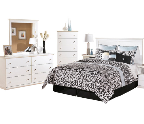 Lucia White Headboard Bedroom Set