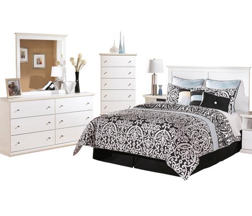 Lucia White Headboard Bedroom Set