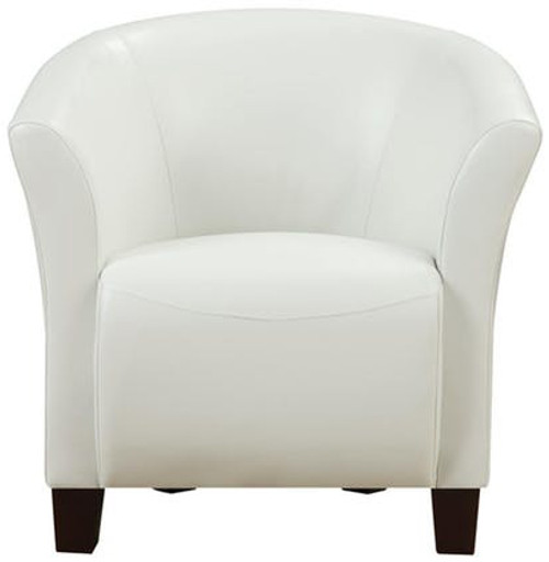 Anda White Accent Chair