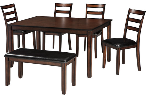 OLSEN Brown 6 Piece Dining Set