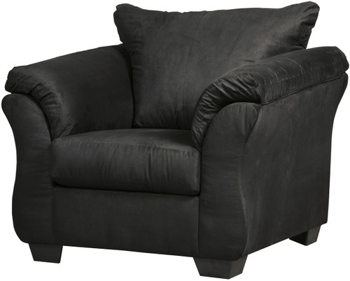 Edeline Black Plush Chair