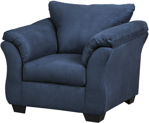 Edeline Royal Blue Plush Chair