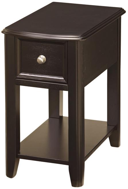 Alicea Espresso Chairside Table