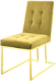 Collins Mustard and Gold 5 Piece Dining Set