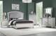 Precious Platinum Rhinestones Vanity Desk & Mirror