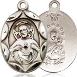 Scapular Medal, Sterling Silver - 0801SSS/24S