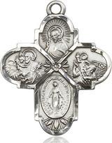 4 Way Cross Pendant, Sterling Silver - 5450SS/24S
