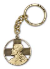 Antique Gold Christ Keychain