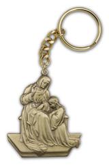 Antique Gold St. Ann Keychain
