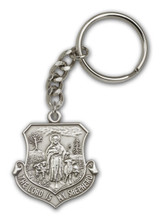 Antique Silver Lord Is My Shepherd Keychain - Style 1