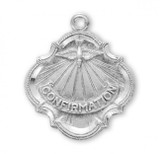 Confirmation Pendant Baroque Style, Sterling Silver with Chain - S385118