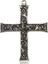 Cross Pendant, Sterling Silver - 6029SS/24S
