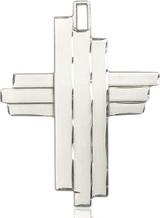 Cross Pendant, Sterling Silver - 6064SS/24S