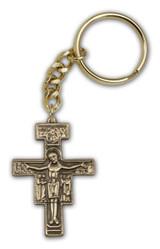 Antique Gold San Damiano Keychain