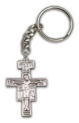 Antique Silver San Damiano Keychain