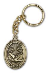 Antique Gold Holy Spirit Keychain