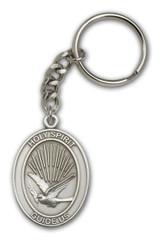 Antique Silver Holy Spirit Keychain