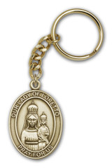Antique Gold Our Lady of Loretto Keychain