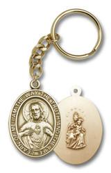 Antique Gold Scapular Keychain