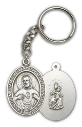Antique Silver Scapular Keychain - Style 1