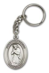 Antique Silver Juan Diego Keychain