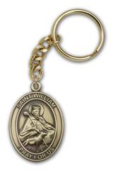 Antique Gold St. William Keychain