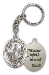 Antique Silver Lord Is My Shepherd Keychain