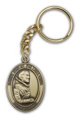Antique Gold St. Pio of Pietrelcina Keychain