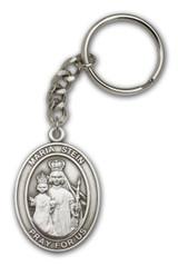 Antique Silver Maria Stein Keychain
