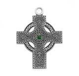 Sterling Silver Irish Celtic Cross Pendant - S1778E24
