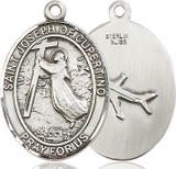 St Joseph of Cupertino Oval Patron Series Sterling Silver Medal