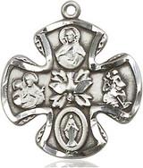 5 Way Silver Pendant