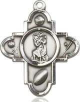 5 Way St Christopher Sports Medal